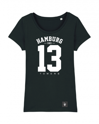 "T-Shirt ""13"" Damen in schwarz"